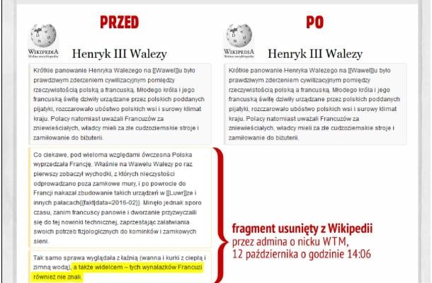 a63071d53b Polacy uczyli Francuzów jeść widelcem  Manipulacje w Wikipedii