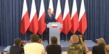 Andrzej Duda zawetował zmiany w kodeksie wyborczym (Fot. YouTube screen)