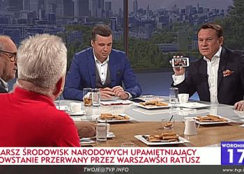 "Fot.:TVP Info/ ""Woronicza 17"" screen"